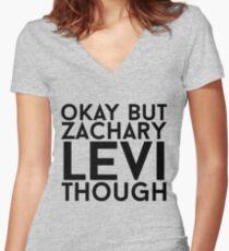 Zachary Levi Women's Fitted V-Neck T-Shirt