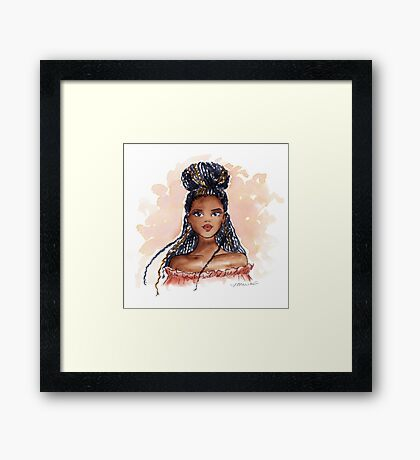 Braid Beautiful Framed Print