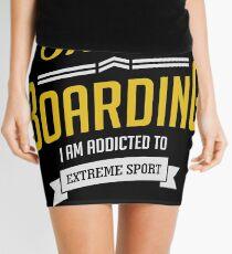 I Love Skateboarding Extreme Sport Mini Skirt