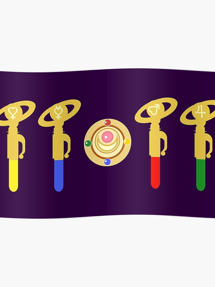 Sailor Moon Minimalist - Gen 1 Transformation Items | Poster