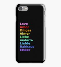 Love (languages) iPhone Case/Skin