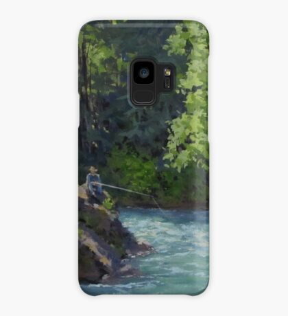 Favorite Spot - Original Fishing on the River Painting Case/Skin for Samsung Galaxy