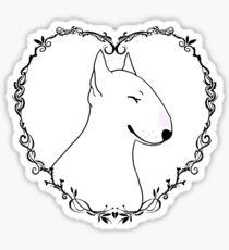 Love Bull Terrier - Black & White Sticker