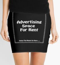 Advertisment Space for Rent - Black Mini Skirt