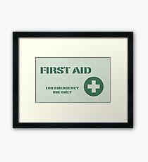 First Aid Framed Print