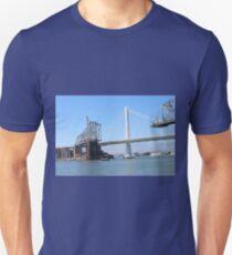 San Francisco To Oakland Bay Bridge - New And Old  Unisex T-Shirt
