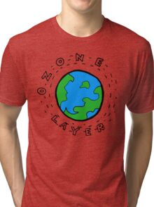 Earth's Ozone Layer Drawing Tri-blend T-Shirt