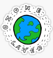 Earth's Ozone Layer Drawing Sticker