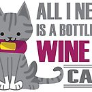 Wine and Cats by Kristina S