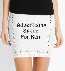 Advertisment Space for Rent - White Mini Skirt