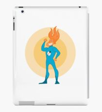 Super Hero Flame Head Man iPad Case/Skin