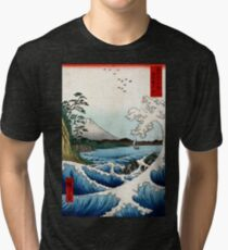 Utagawa Hiroshige The Sea at Satta in Suruga Province Tri-blend T-Shirt