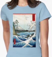 Utagawa Hiroshige The Sea at Satta in Suruga Province Womens Fitted T-Shirt