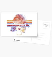 Raumschiff Erde und Monorail Vintage T-Shirt Postkarten
