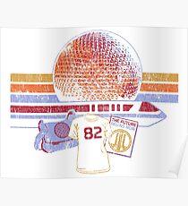 Raumschiff Erde und Monorail Vintage T-Shirt Poster