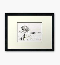 A YORKSHIRE SNOW SCENE Framed Print
