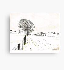 A YORKSHIRE SNOW SCENE Canvas Print