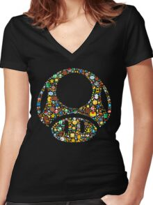 Toad minimalist Women's Fitted V-Neck T-Shirt