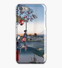 Utagawa Hiroshige The Teahouse with the View of Mt. Fuji iPhone Case/Skin
