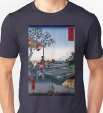 Utagawa Hiroshige The Teahouse with the View of Mt. Fuji Unisex T-Shirt