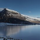 Pen-yr-ole Wen reflected in ice by robevans