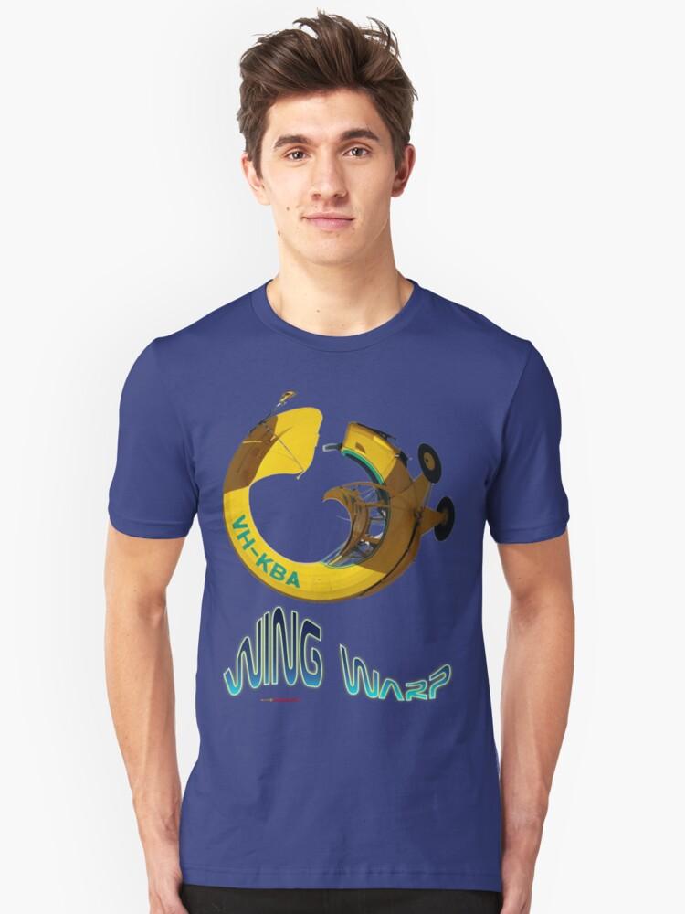 Auster VH-KBA Wing Warp T-shirt Design Unisex T-Shirt Front