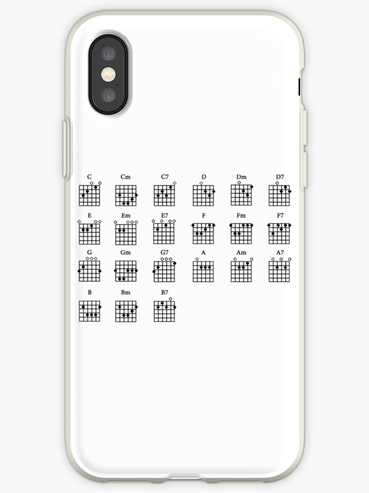 Basic Guitar Chords Iphone Cases Covers By Forestkat Redbubble