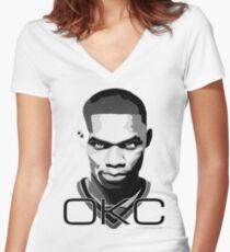 OKC Women's Fitted V-Neck T-Shirt