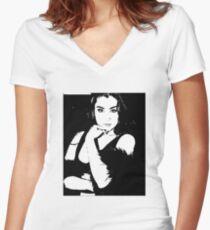 Black it  Women's Fitted V-Neck T-Shirt