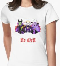 Three Wise Villains (Purple) Womens Fitted T-Shirt