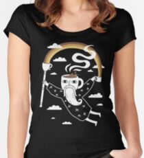 Joe the Coffee Wizard Women's Fitted Scoop T-Shirt