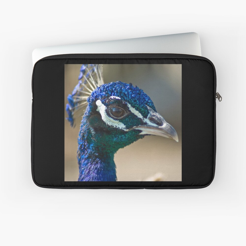 Peacock portairt Laptop Sleeve