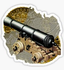 Defending The Gold Island Sticker