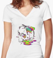 Art In Mind Women's Fitted V-Neck T-Shirt