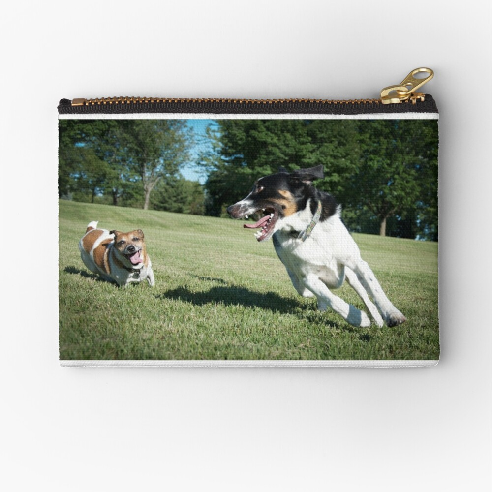 Playing chase Zipper Pouch