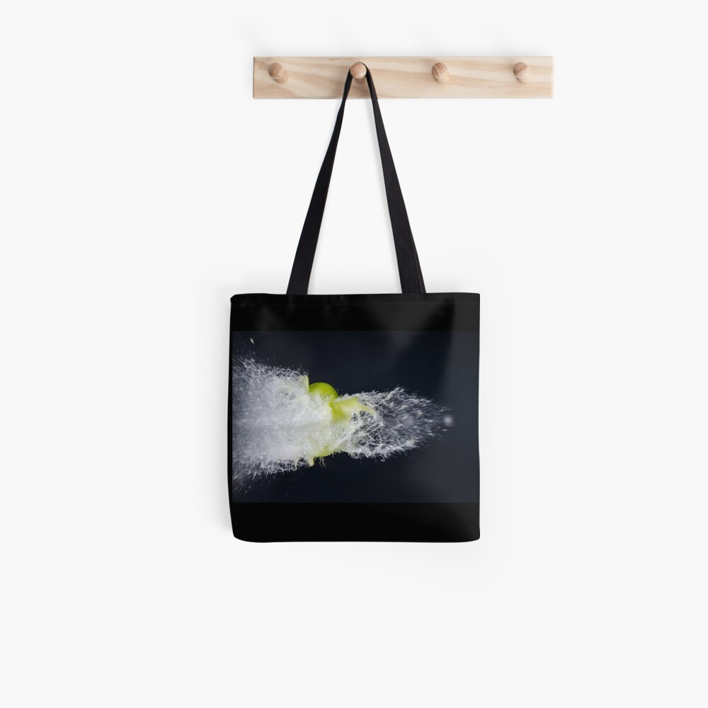 Exploding grape Tote Bag