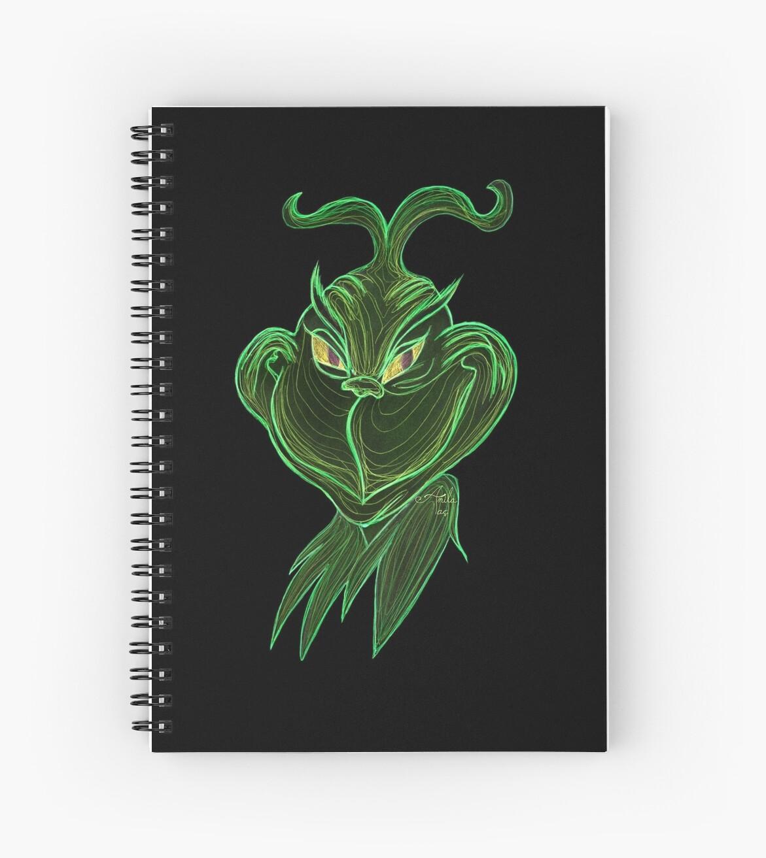 Cuadernos de espiral «Inverted Grinch Christmas Drawing» de Artist ...
