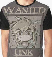 legend of zelda, link most wanted Graphic T-Shirt