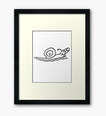 drunk party drinking beer alcohol drink drunk party drunk snail Framed Print