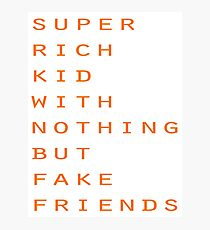 Super Rich Kid Photographic Print