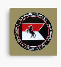 1-153rd Cavalry Regiment 2013 Deployment Emblem Canvas Print