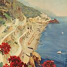 Vintage Amalfi Poster by GrybDesigns