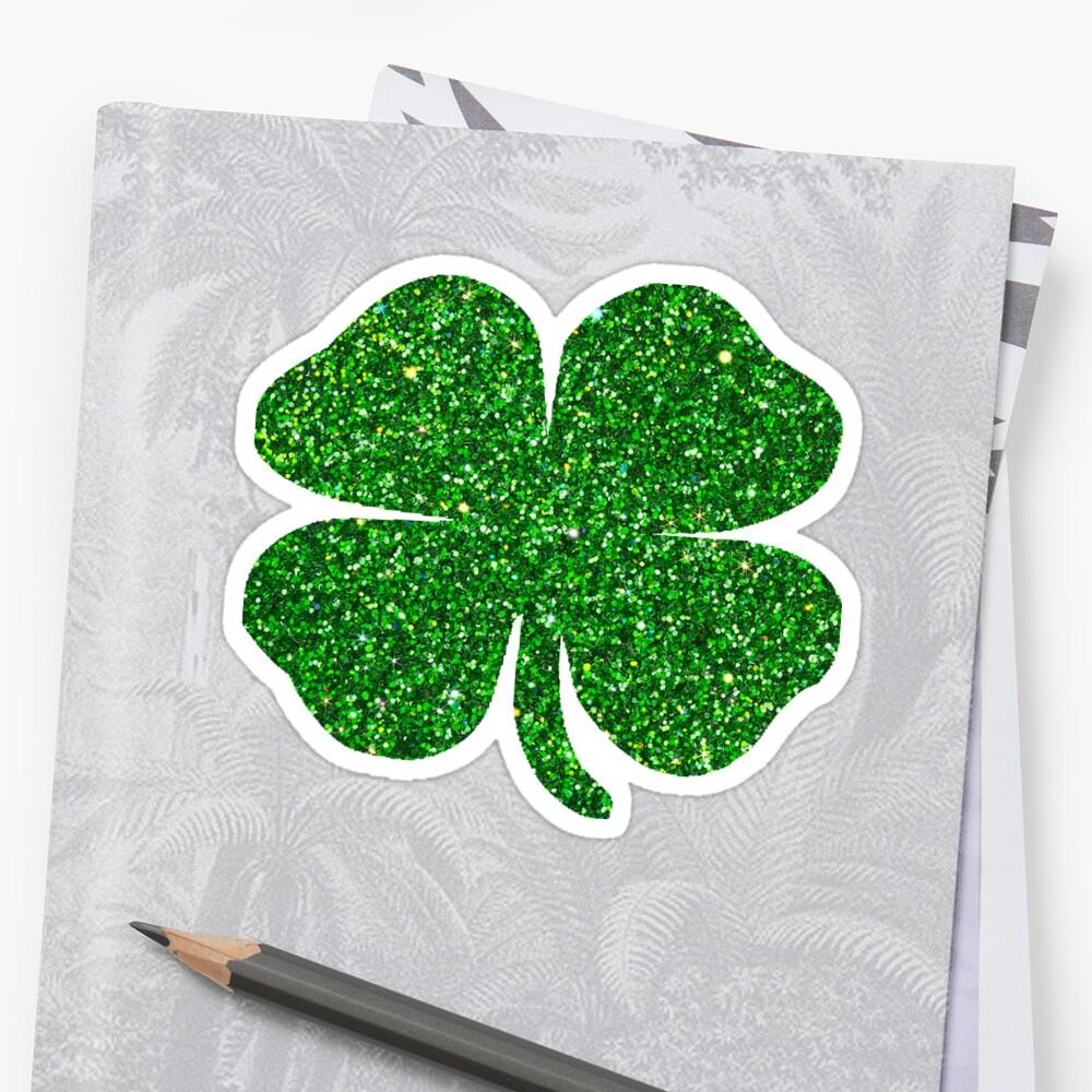 st patrick u0027s day emerald green glitter shamrock 4 leaf clover