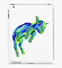Springende blaue Ziege iPad-Hülle & Klebefolie