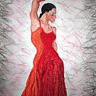 Flamenco Flame by Fiona  Lohrbaecher