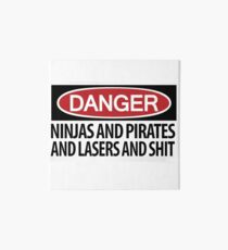 Ninjas and Pirates and Lasers, Oh My! Art Board