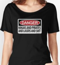Ninjas and Pirates and Lasers, Oh My! Women's Relaxed Fit T-Shirt