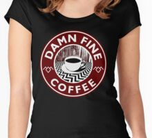 Damn Fine Coffee Women's Fitted Scoop T-Shirt