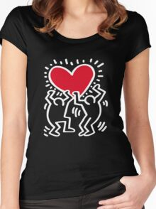Keith Haring Love Women's Fitted Scoop T-Shirt