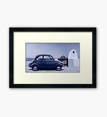 Italian car Fiat 500 Framed Print
